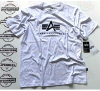 Футболка Alpha Industries BASIC LOGO TEE (WHITE)