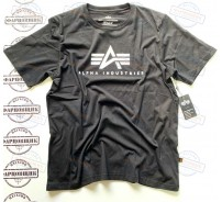 Футболка Alpha Industries BASIC LOGO TEE (BLACK)