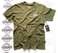 Футболка Alpha Industries SMALL LOGO TEE (OLIVE)