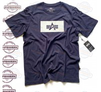 Футболка Alpha Industries REFLECTIVE LOGO (DARK BLUE)