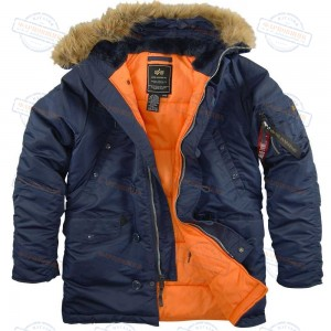 Аляска/Парка Alpha Industries SF N3-B (Blue/Orange)