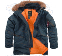Аляска Alpha Industries SF N-3B STEEL BLUE ORANGE
