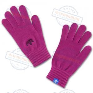Перчатки adidas,  модель Trefoil Gloves, цвет красный