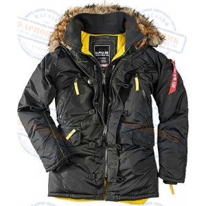 Аляска Alpha Industries Slim Fit N-3B INCLEMENT Parka BLACK